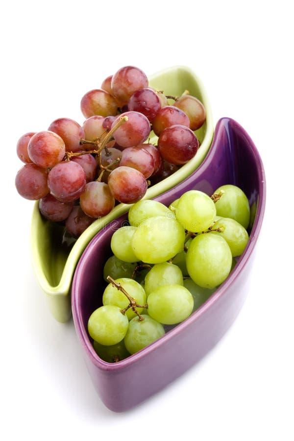 Raisins verts et rouges photo stock