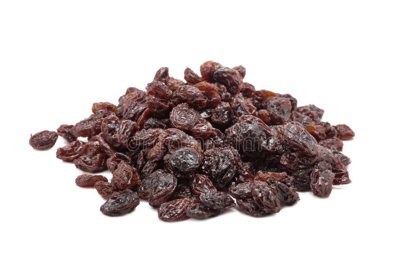 Raisins on a white background. royalty free stock images