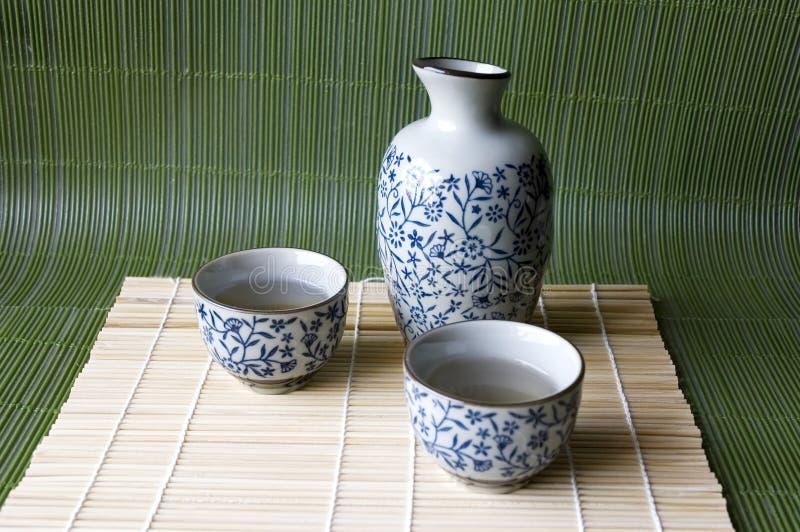 Raison réglée sur le type japonais de garniture en bambou photos libres de droits