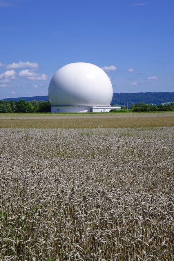 Raisting Satellite Earth Station. Ground station, satellite communications, Upper Bavaria, Germany, Europe royalty free stock photos