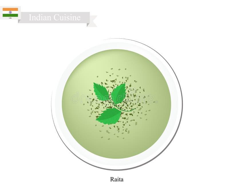 Raita of de Indische Romige Onderdompeling van de Komkommeryoghurt royalty-vrije illustratie
