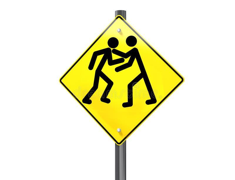 Raiva da estrada ilustração do vetor