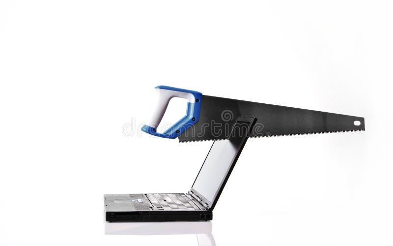 Raiva do computador fotografia de stock