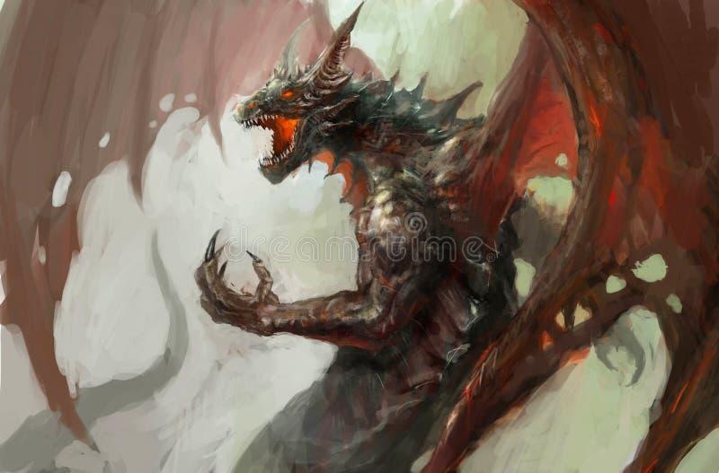 Raiva do dragão ilustração royalty free