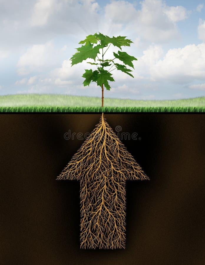 Raiz do sucesso ilustração do vetor