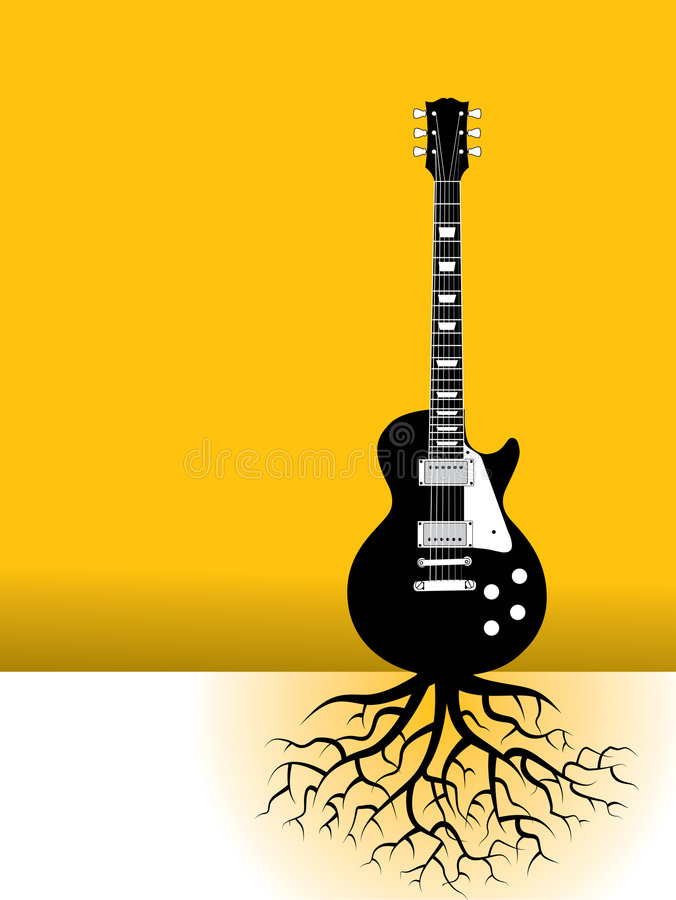 Raizes da guitarra ilustração do vetor