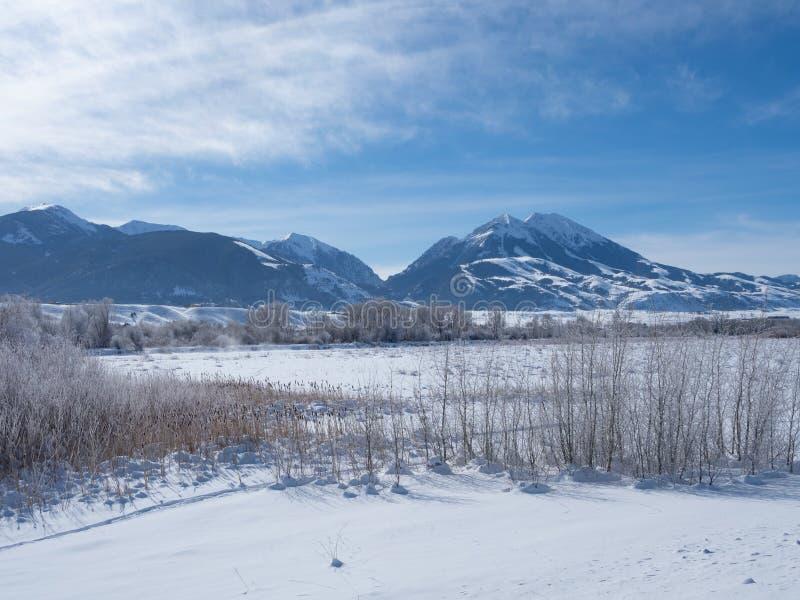 Raj Dolinny Montana w zimie obraz stock