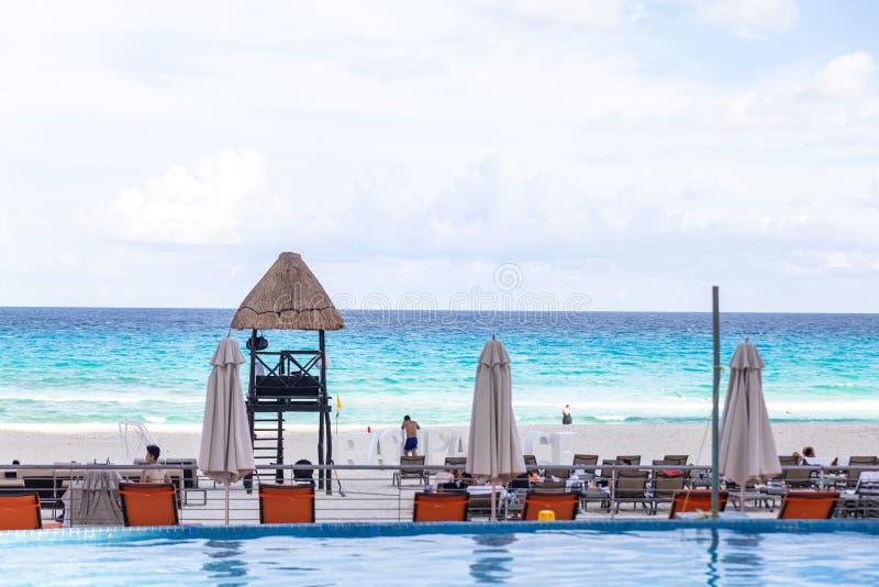 Raj egzotyczny Koncepcja podróży, turystyki i wakacji Resort Morze Karaibskie obraz stock
