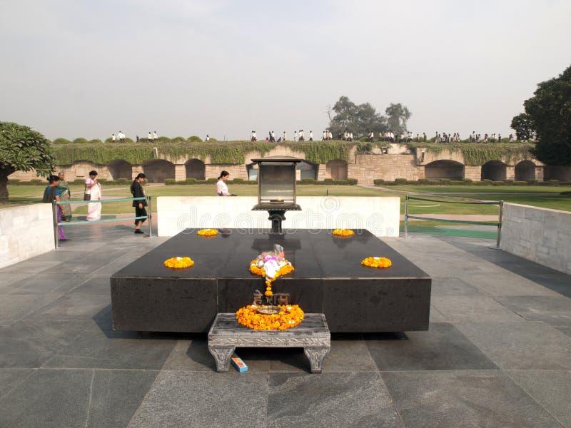 Raj Ghat - Mahatma Gandhicrematorium-Site. lizenzfreies stockbild