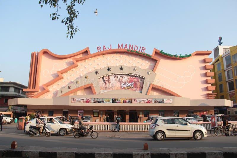 Raj Mandir o teatro do cinema do marco fotos de stock royalty free
