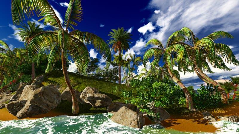 Raj na Hawaje wyspie obrazy stock
