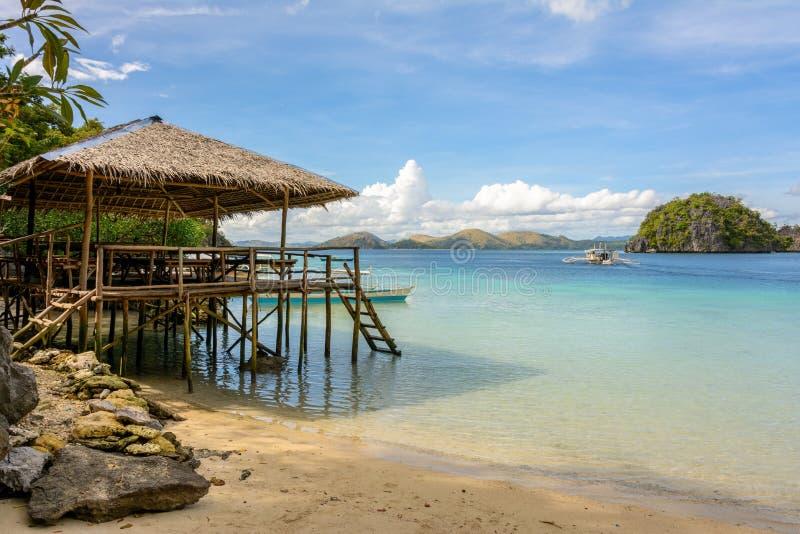raj na plaży tropikalny Filipiny, Palawan zdjęcia stock