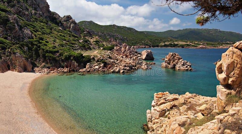 Raj plaża na Sardinia fotografia royalty free