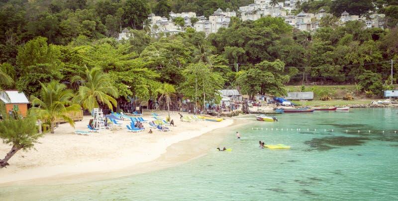 Raj plaża w Ocho Rios, Jamajka wyspa obraz stock
