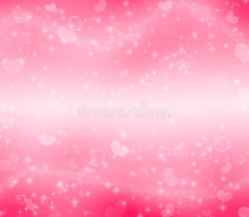 Raj walentynki ` s dnia magii różowy tło zdjęcie stock