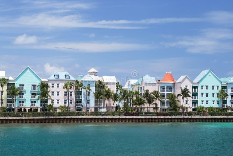 Raj wyspy nabrzeże, Nassau Bahamas obrazy stock