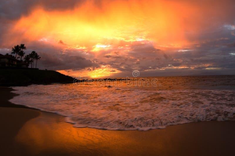 raj, zachód słońca zdjęcie stock