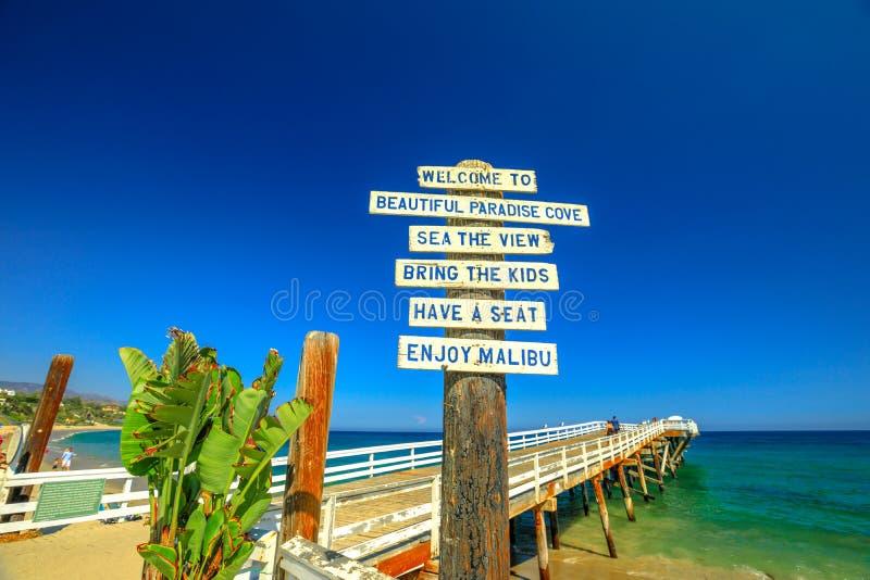 Raj zatoczki molo Malibu obrazy royalty free