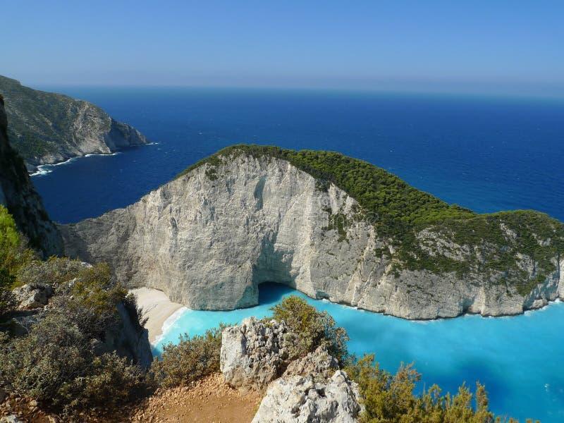 Download Raj zatoka Zakynthos wyspa zdjęcie stock. Obraz złożonej z grecja - 57673148