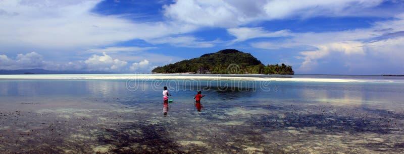 Raja Ampat Archipelago em Indonésia oriental, ilha de Kri fotos de stock