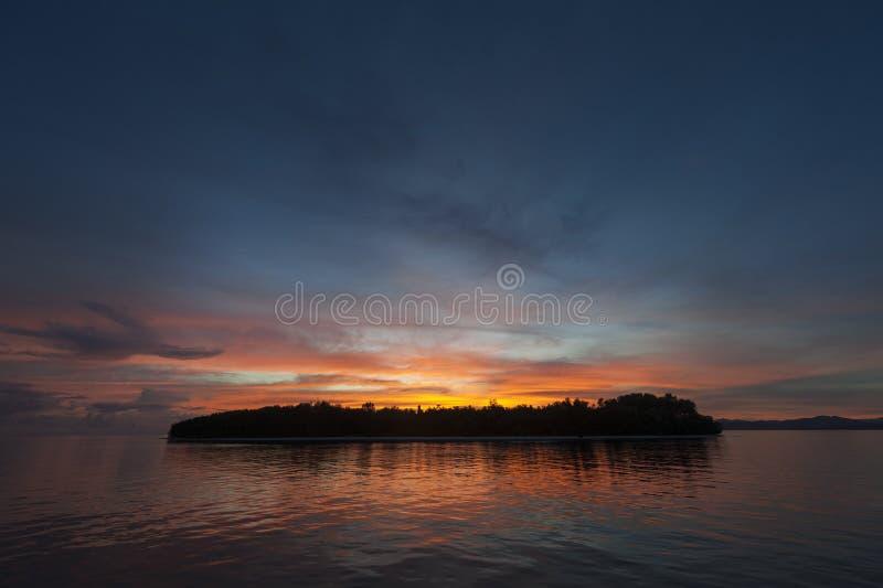 Raja Ampat Island at Sunset royalty free stock photos