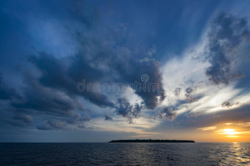 Raja Ampat Island at Sunset royalty free stock images