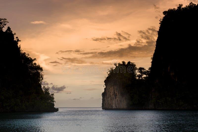 Raja Ampat Islands in West Papua, Indonesia stock image