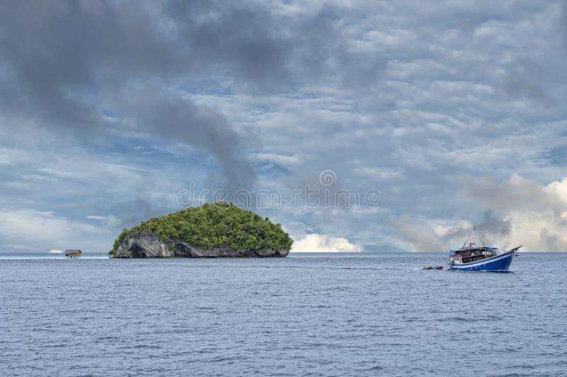 Raja Ampat Papua Indonesia huge panorama landscape. Raja Ampat Papua panorama landscape stock photos