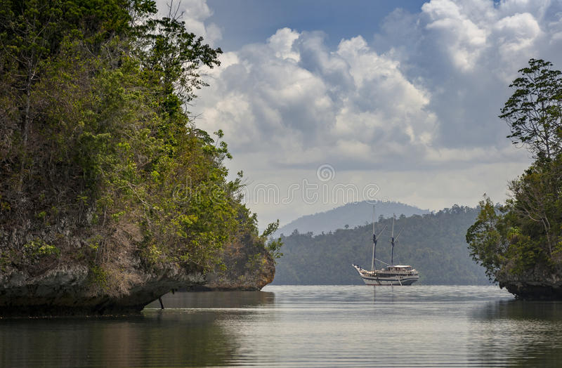 Raja Ampat, West-Papoea, Indonesië royalty-vrije stock afbeelding