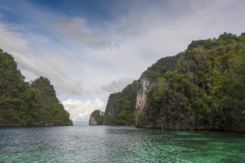 Raja Ampat, West-Papoea, Indonesië stock foto