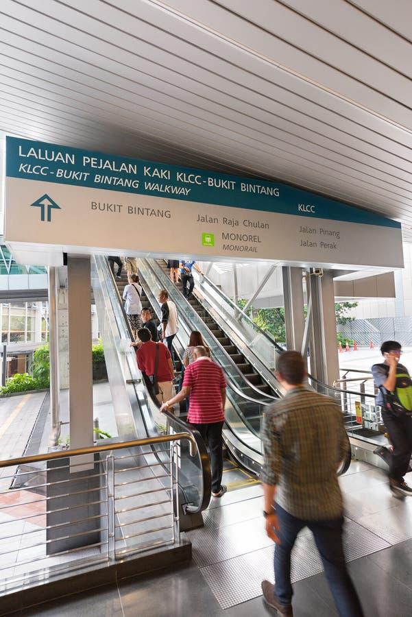 Raja Chulan jednoszynowa stacja w Kuala Lumpur, Malezja fotografia royalty free