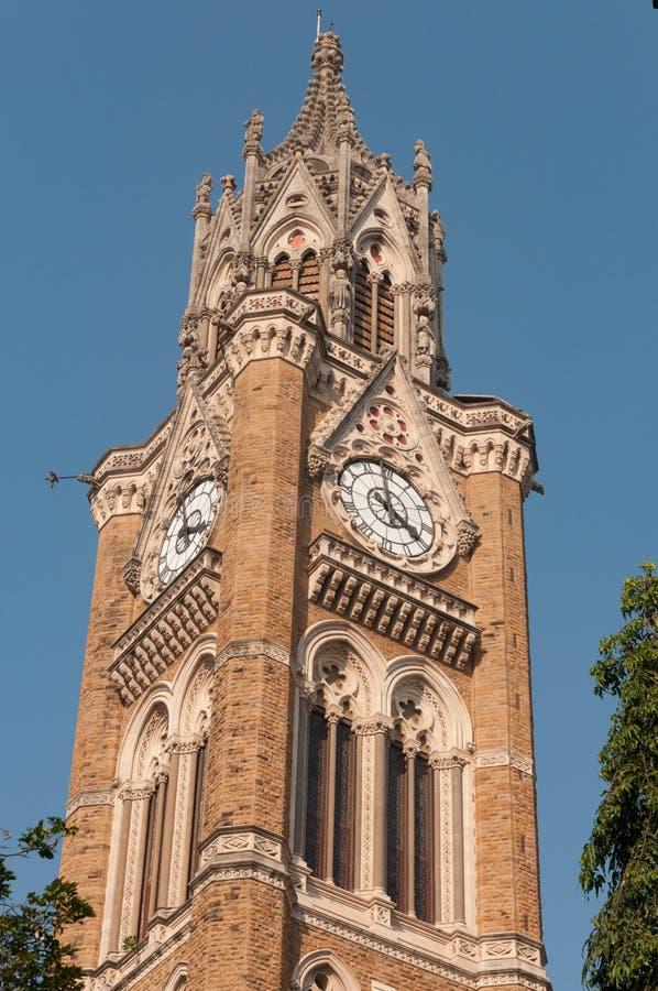 Rajabai zegarowy wierza w Mumbai, India, India zdjęcia royalty free