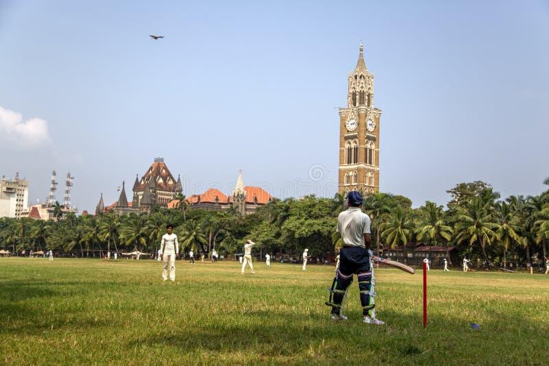 RajabaiKlokketoren in Mumbai, India royalty-vrije stock foto's