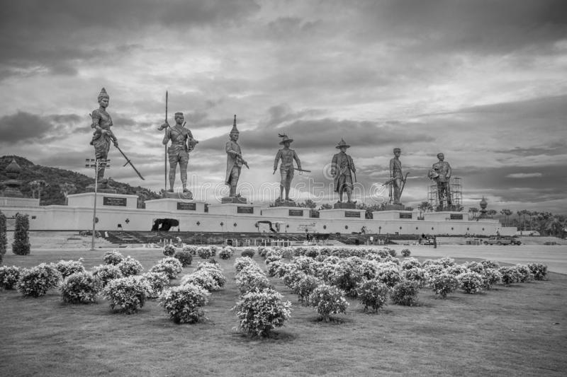 Rajabhakti Park, the Great seven kings in monument in Hua Hin district - Prachuap Khiri Khan, Thailand. Rajabhakti Park, the Great seven kings in monument in Hua royalty free stock photography