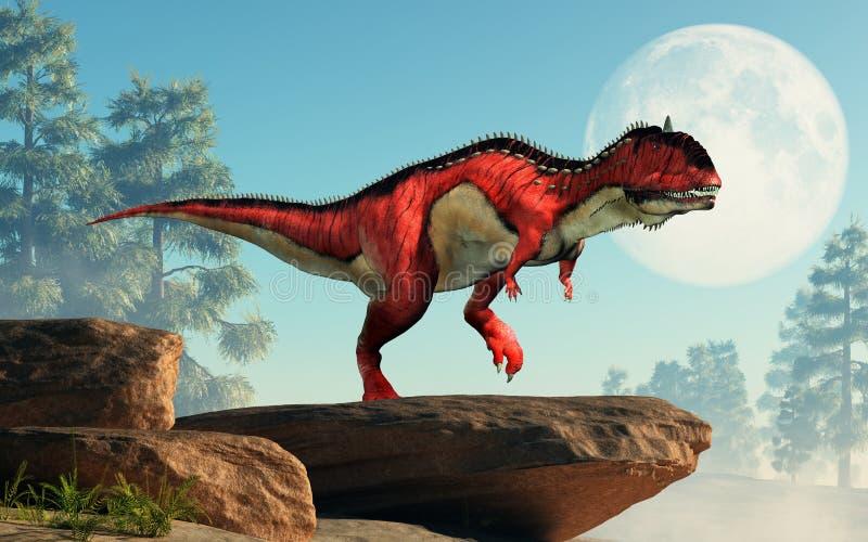 RajasaurusRajasaurus op een Klip stock illustratie