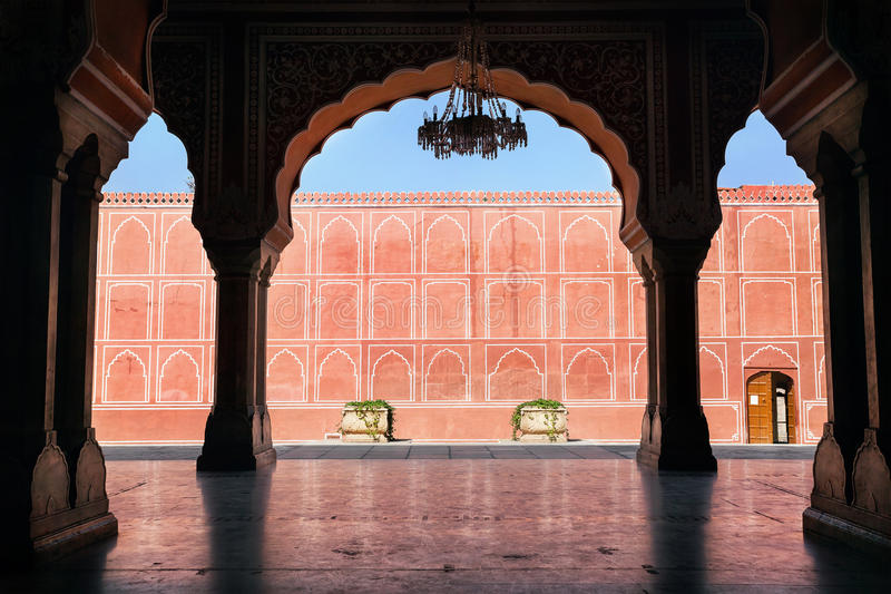 Rajasthan City Palace in Jaipur stock photography