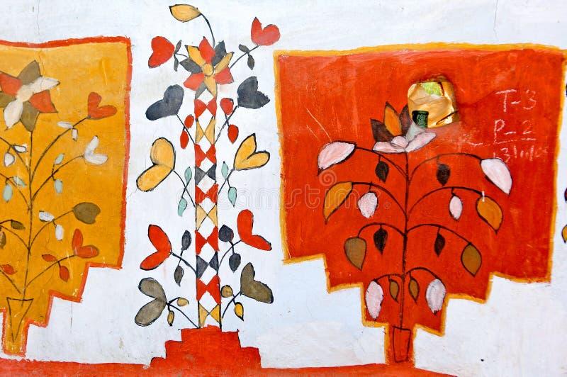 Rajasthan indu malować ściany fotografia stock