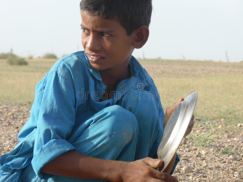 Rajasthan-Junge stockfoto