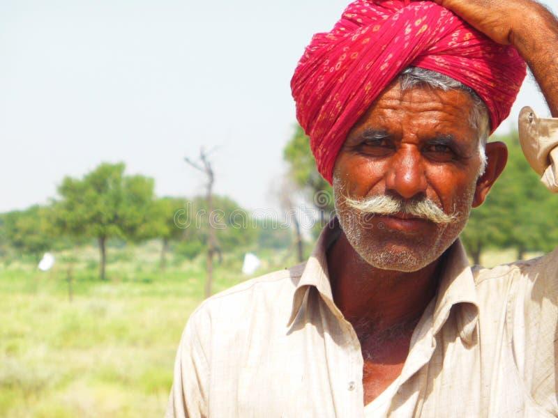Rajasthan-Mann stockbilder