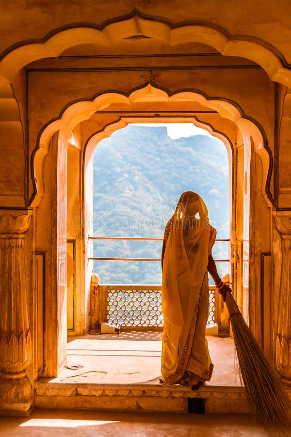 Rajasthani妇女 免版税图库摄影