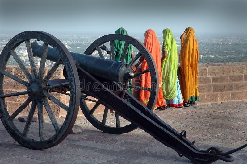 Rajasthani妇女 免版税库存照片