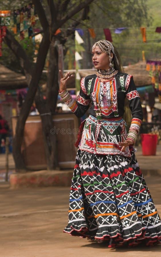 rajasthani χορευτών ενέργειας στοκ εικόνες με δικαίωμα ελεύθερης χρήσης