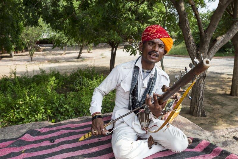 Rajasthani folk sångare royaltyfri bild