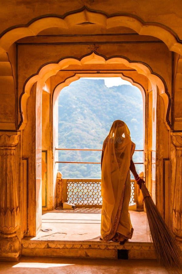 Rajasthani kvinna royaltyfri fotografi