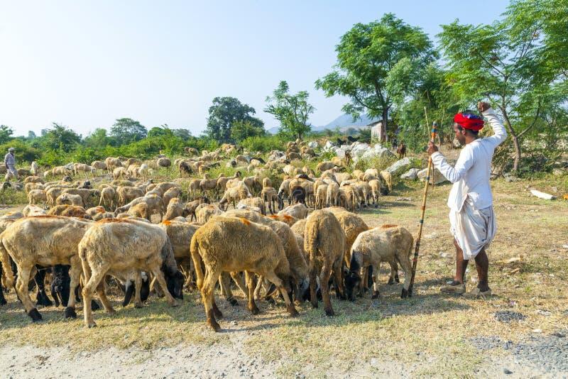 Rajasthani mężczyzna plemienny być ubranym zdjęcie stock