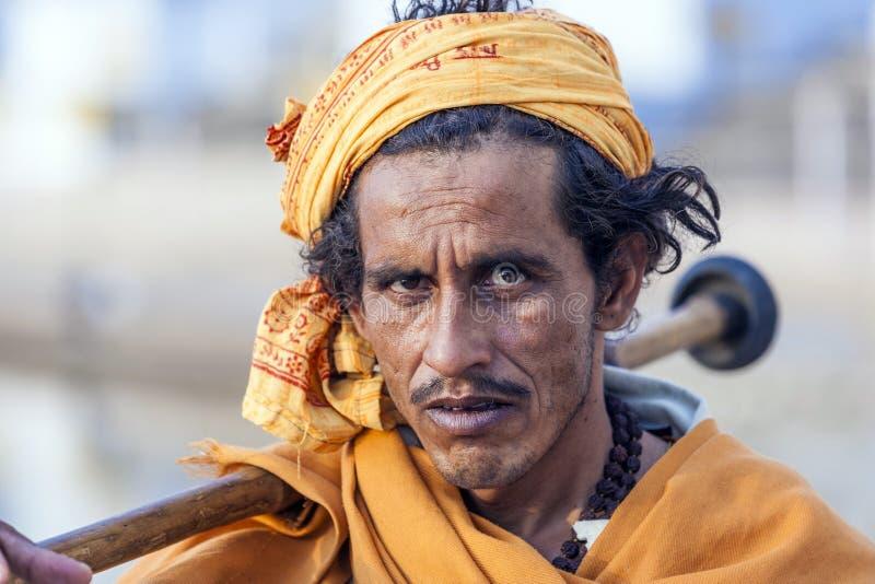 Rajasthani mężczyzna plemienny być ubranym obrazy royalty free