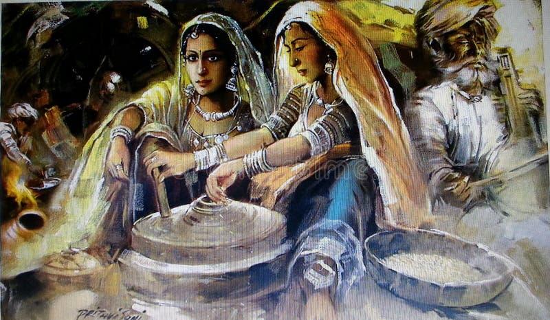 Rajasthani para mujer foto de archivo libre de regalías