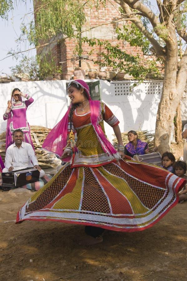Rajasthani Tänzer stockbilder