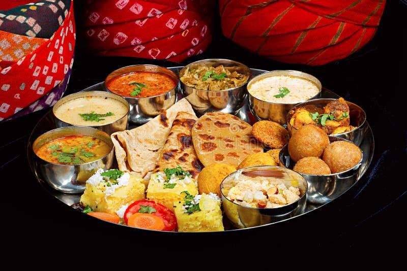 Rajasthani Thaali,浦那大君 免版税库存图片