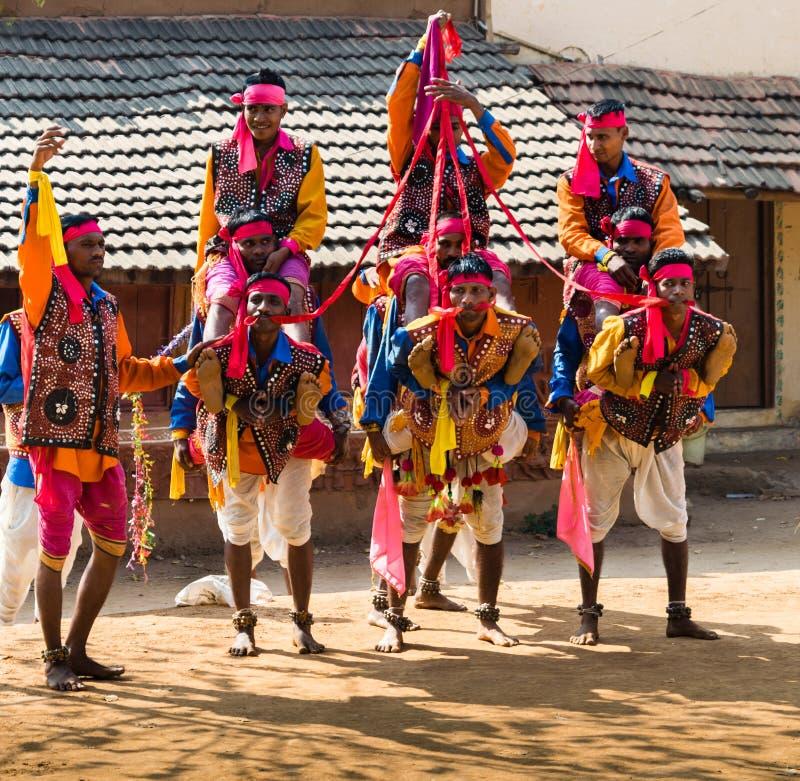 Rajasthanimens in traditionele kledij stock afbeelding